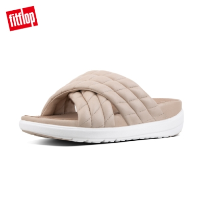 FitFlop LOOSH LUXE LEATHER CROSS灰粉
