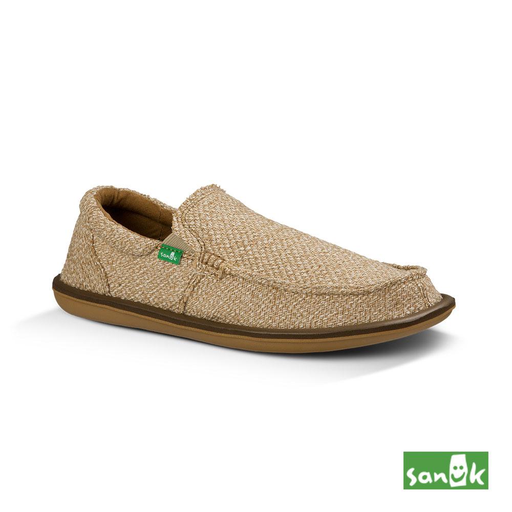 SANUK 帆布編織懶人鞋-男款(褐色)