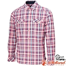 Wildland 荒野 0A72202-116丁寧藍 男彈性針織格紋保暖襯衫
