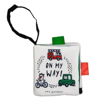 Wee Gallery Buggy Book:On My Way! 交通工具吊掛布書