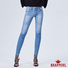 BRAPPERS 女款 新美腳ROYAL系列-中低腰涼爽彈性窄管褲-藍
