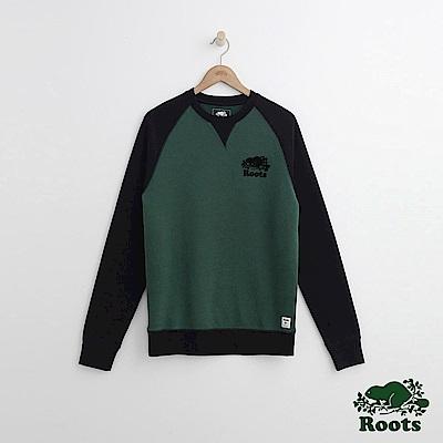Roots 男裝- 休閒圓領上衣-綠