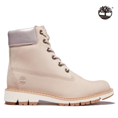 Timberland 女款淺米色磨砂革LUCIA WAY防水6吋靴|A2EUF