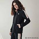 GIORDANO 女裝G-MOTION撞色拼接運動外套 -11 標誌黑