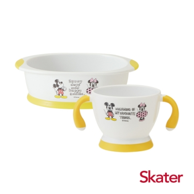 Skater幼童雙耳杯+深口盤 (米奇)