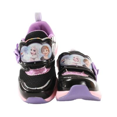 魔法Baby 女童鞋 迪士尼冰雪奇緣正版閃燈運動鞋 電燈鞋 sa04970