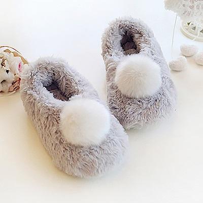 BUNNY LIFE 超柔可愛大絨球 家居室內包鞋