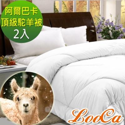 LooCa 阿爾巴卡頂級駝羊暖冬被(2入)