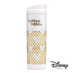 迪士尼Disney原始紋理按壓式#304不鏽鋼真空保溫杯420ml(快)