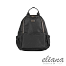 eliana - BREEZE系列輕量雙口袋後背包 - 摩登黑