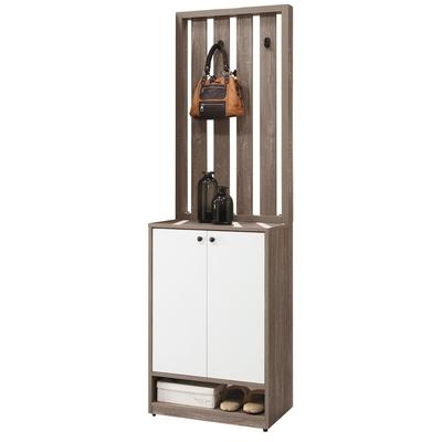 D&T 德泰傢俱 Buck胡桃色2尺格欄隔間鞋櫃 寬60×深40×高201.5cm