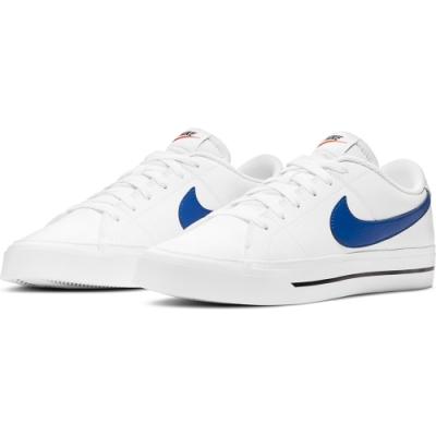 NIKE 休閒鞋 皮革 運動鞋 男鞋 白藍 CU4150-101 COURT LEGACY
