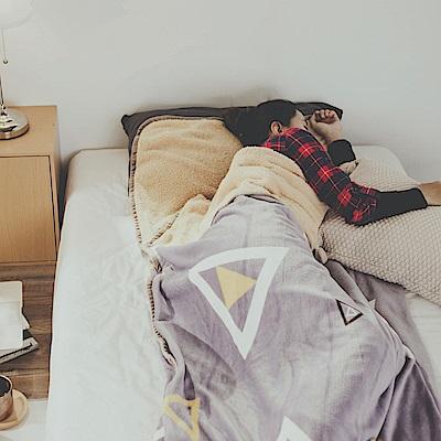 絲薇諾 幾何 法蘭羊羔絨睡袋毯(1.3kg)