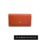 RABEANCO 摩登時尚信封設計撞色長夾 橘