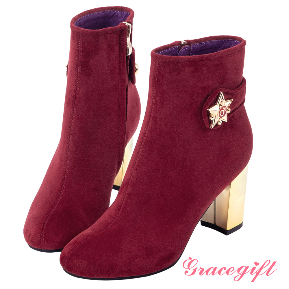 Grace gift-美少女戰士變身器金屬跟短靴 紅