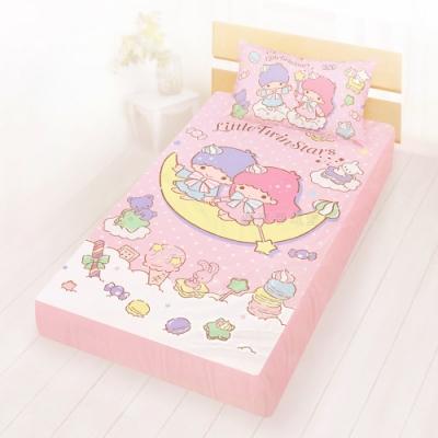 享夢城堡 單人床包枕套3.5x6.2二件組-雙星仙子Little Twin Stars 月光童話-粉