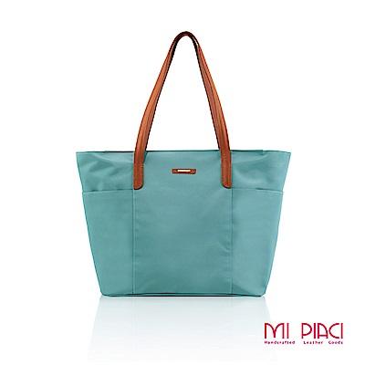 MI PIACI-雙口袋托特包-孔雀藍-1289618