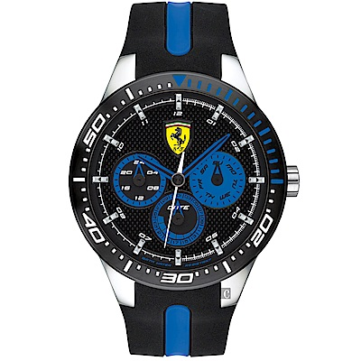 Scuderia Ferrari 法拉利 Red Rev T 日曆手錶 FA0830587