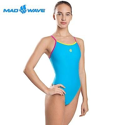 俄羅斯 邁俄威 女款連身泳衣 淺藍 MADWAVE NERA