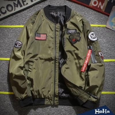 立領空軍一號飛行夾克 四色-HeHa