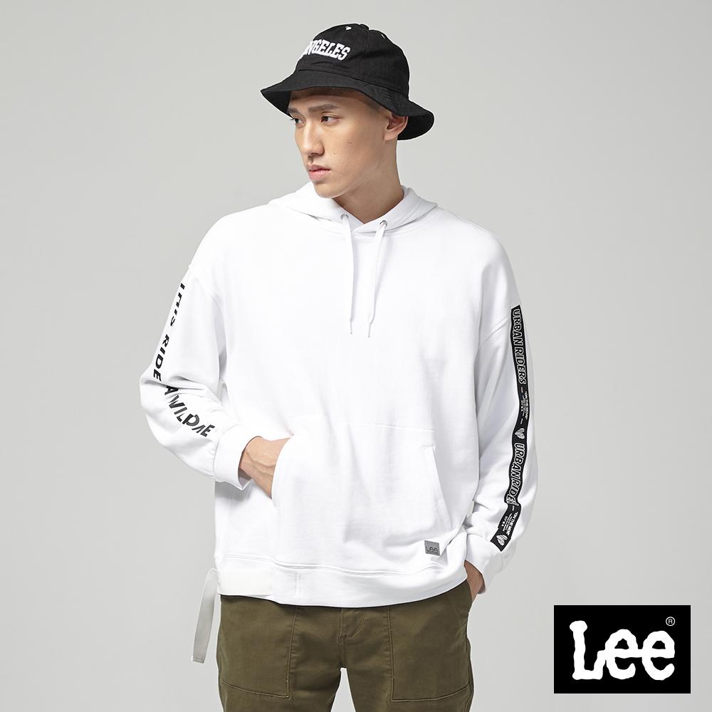 Lee 長袖連帽厚TEE/UR白色