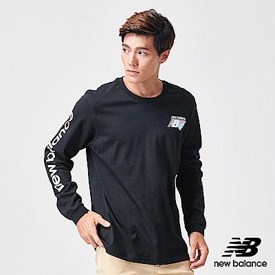 New Balance 長袖T恤_AMT91545BK_男性_黑色