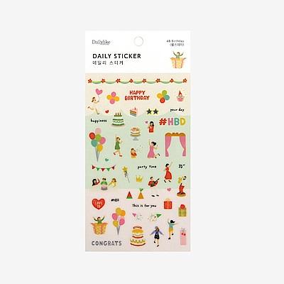 Dailylike 日日美好裝飾透明貼紙-48生日