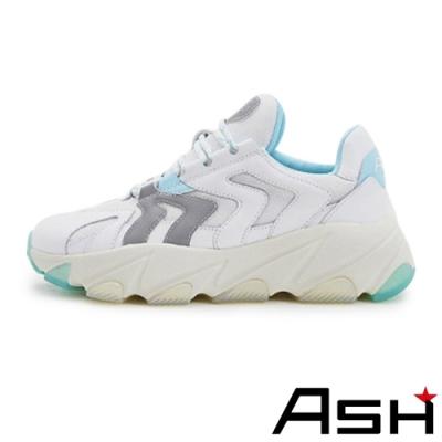 ASH-EXTREME系列潮流時尚增高厚底老爹鞋-藍