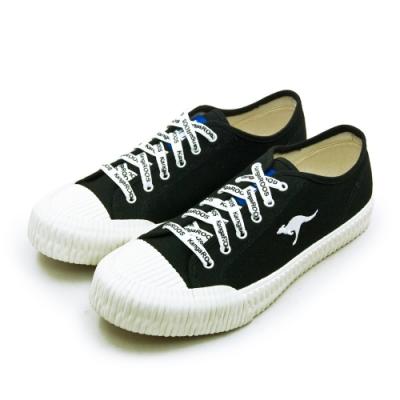 KangaROOS 帆布厚底餅乾鞋 CRUST藍標袋鼠鞋系列 黑米 91260