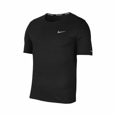 Nike T恤 Miler Running Top 男款 運動 Dri-FIT 吸濕排汗 反光勾勾 黑 白 CU5993010