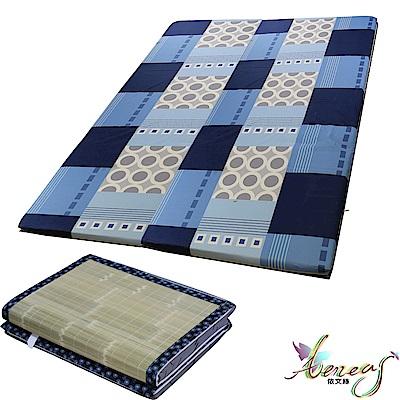 伊文絲 舒境藍天純棉刮青便利床墊-雙人5x6尺2