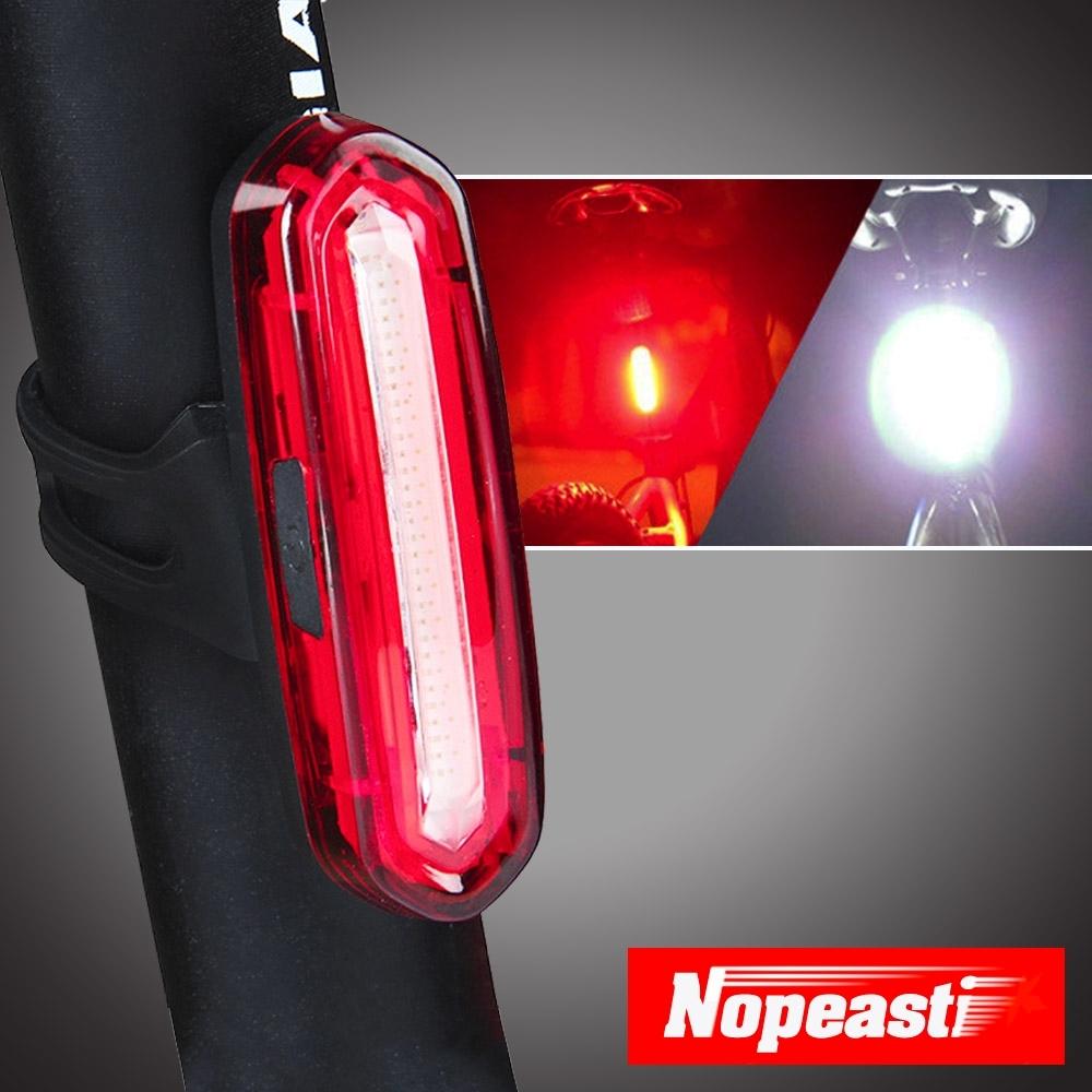 Nopeasti諾比 USB多段式LED夜間雙色警示自行車尾燈 紅白光