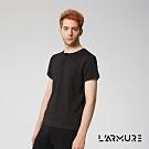 L'ARMURE 男裝 無領POLO衫 (黑色)