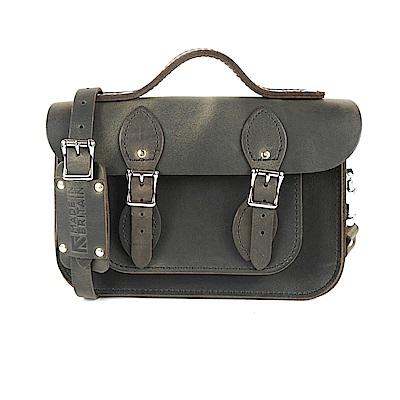 The Leather Satchel 英國手工牛皮劍橋包 肩背手提包 原色深橄欖 11吋
