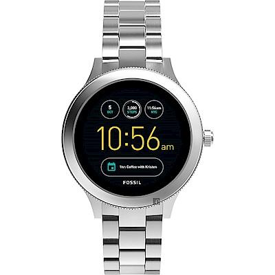 Fossil Q Venture系列觸控智能手錶-銀/42mm FTW6003