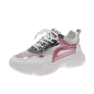韓國KW美鞋館 獨賣款歐美風透視運動鞋-紅