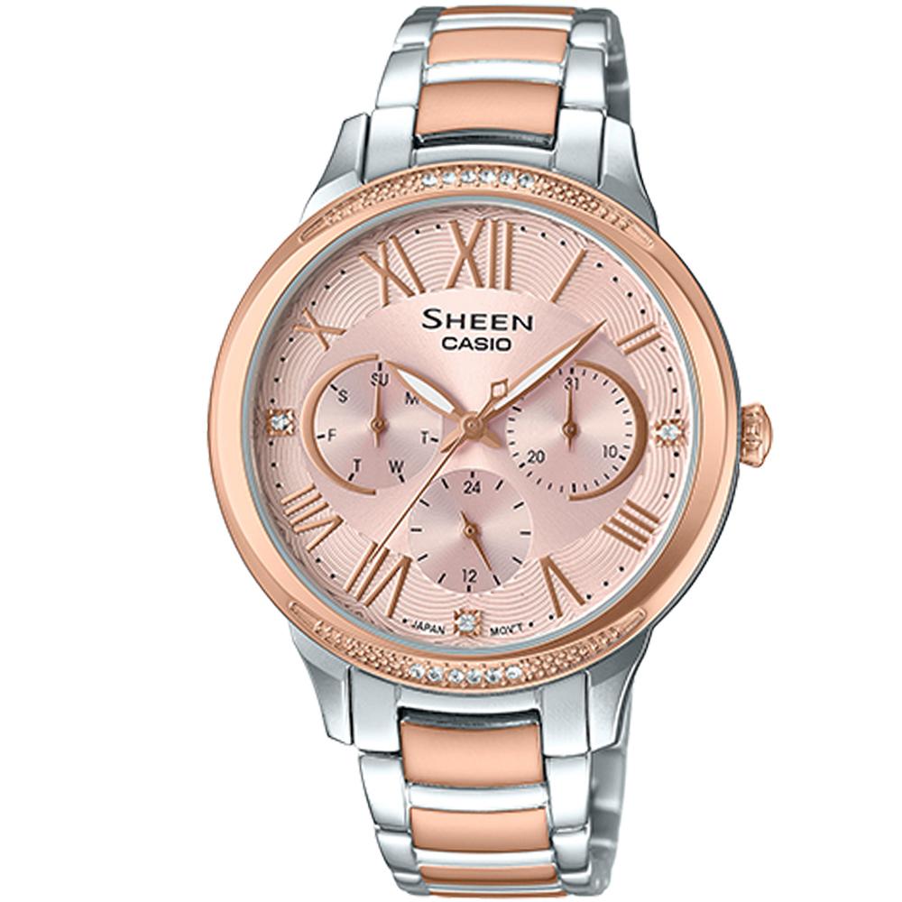 CASIO SHEEN 耀眼風采時尚腕錶(SHE-3058SPG-4A)36mm