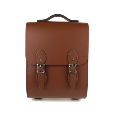 The Leather Satchel 英國手工牛皮溫莎小後揹包 手提包 栗木棕