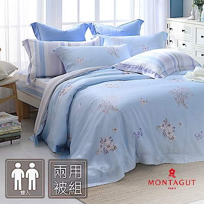 MONTAGUT-微風的信箋-100%天絲-四件式兩用被床包組(雙人)