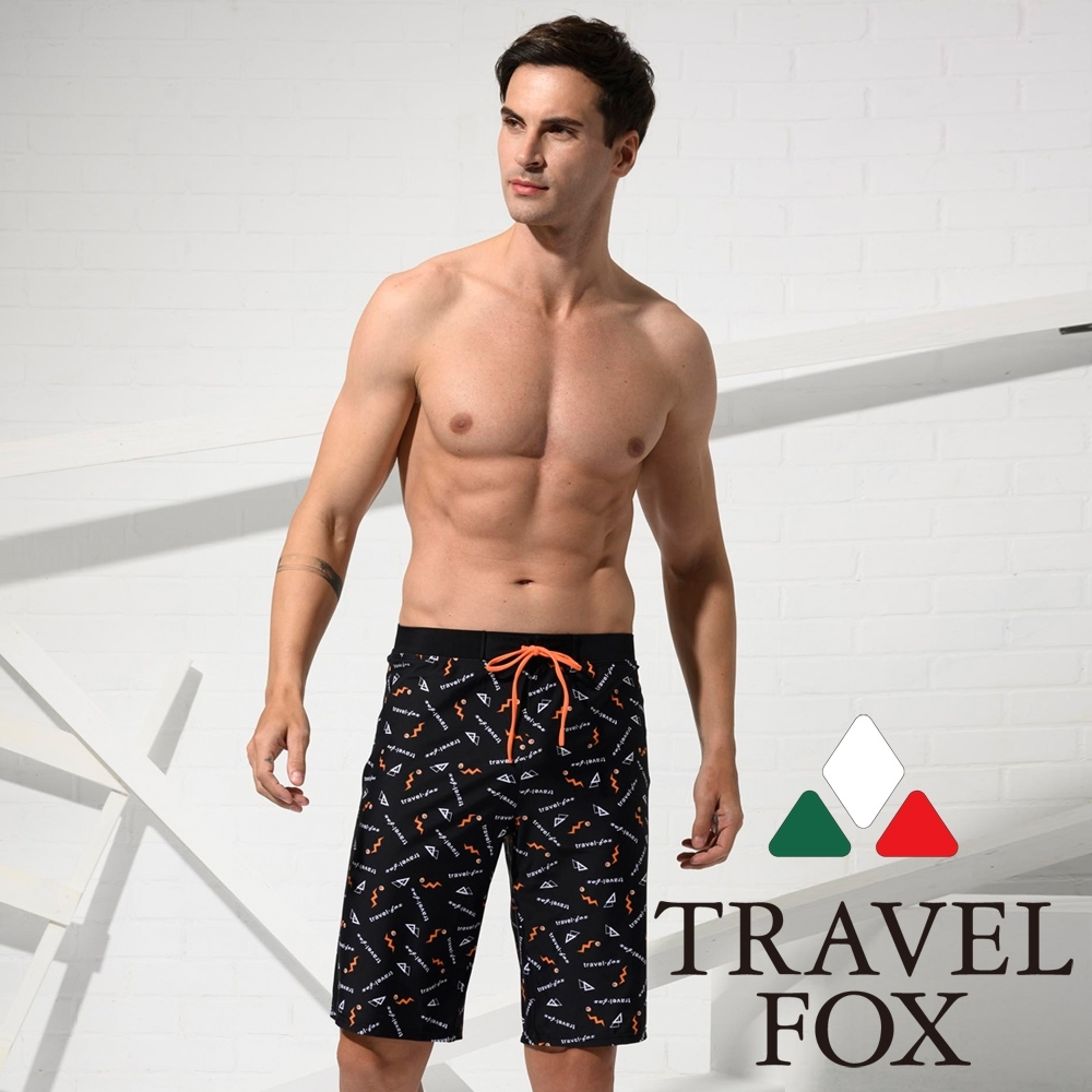 TRAVEL FOX夏之戀 大男寬口泳褲