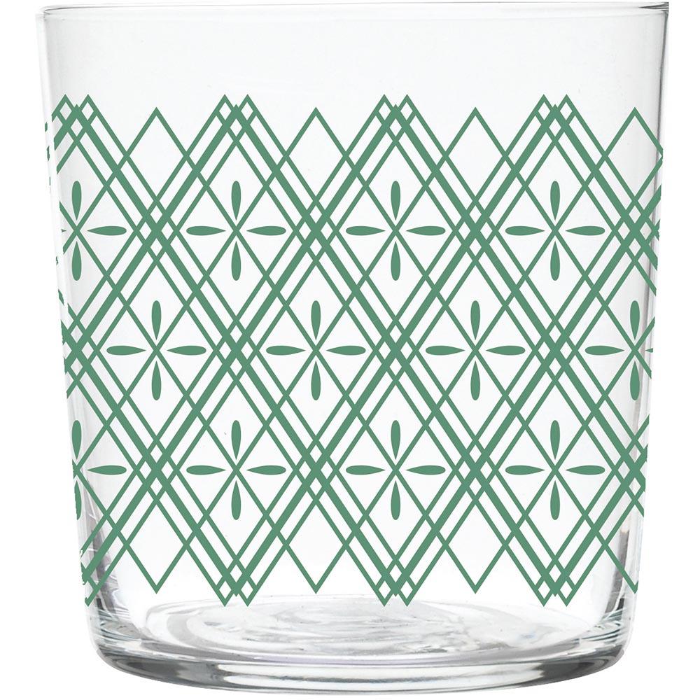 《EXCELSA》窗花玻璃杯(綠370ml)