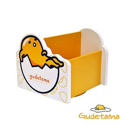 Gudetama 三麗鷗療癒蛋黃哥360度桌上旋轉收納盒 飾品盒 置物盒