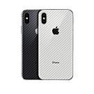御殼坊  For:Apple iPhone XR 背面護貼(碳纖紋背貼)超值2片入