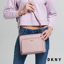 DKNY 真皮秀氣單肩斜背包 粉