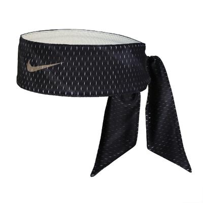 Nike 頭帶 Dri-Fit Head Tie 男女款 吸濕排汗 快乾 雙面 運動 網球 黑 白 N100303994-1OS
