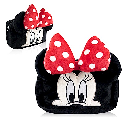 Disney迪士尼立體絨毛化妝包大臉系列_米妮