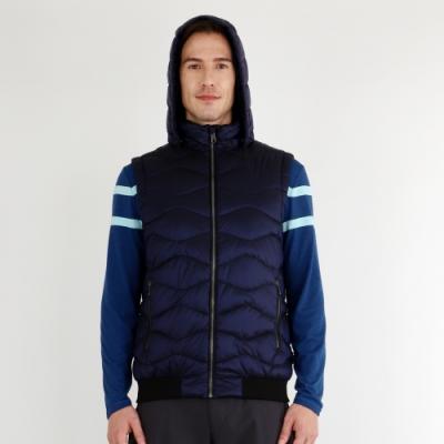 【HAKERS 哈克士】男 防潑水保暖背心(普魯士藍)