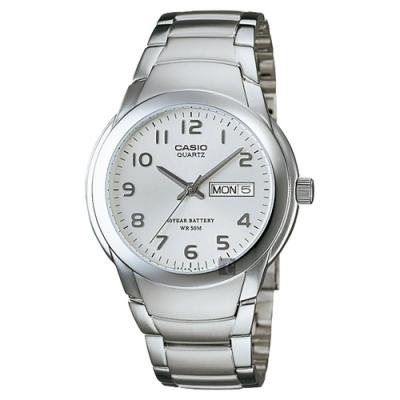 CASIO 卡西歐 卡西歐 10年電力大三針手錶-銀(MTP-1229D-7AVDF)
