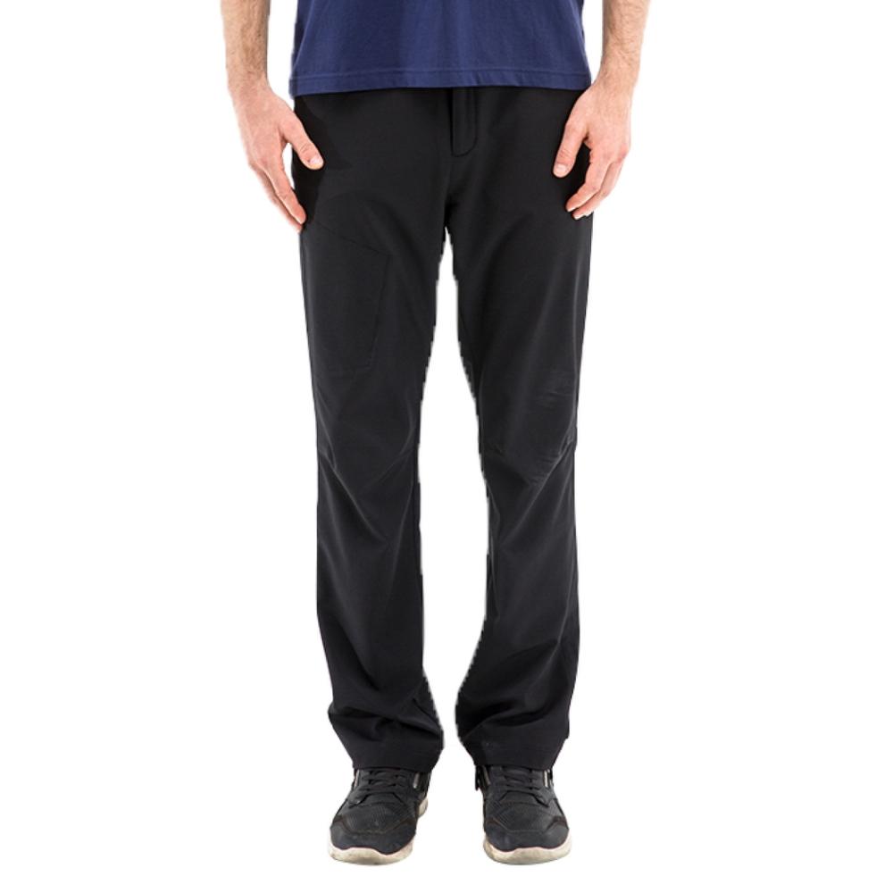 【St. Bonalt 聖伯納】男款單色涼爽機能休閒褲(8010-黑色)