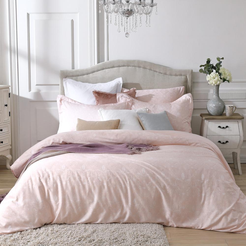 BBL Premium 古典戀情-粉100%萊賽爾纖維天絲印花兩用被床包組(加大)